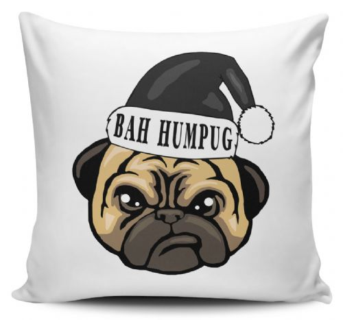 Bah Humpug Funny Christmas Novelty Christmas Cushion Cover